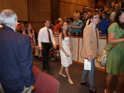 Sunday, Day 1: Awards Ceremony, College of Arts and Sciences