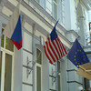 Russian, US, and Euro flags
