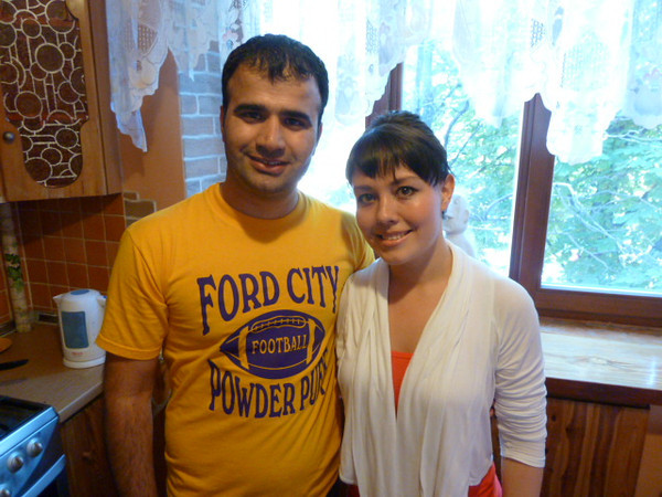 my airbnb.com hosts, Mohamed and Olga