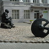 monument to the man who invented the wheel<br /> He was Ukrainian.