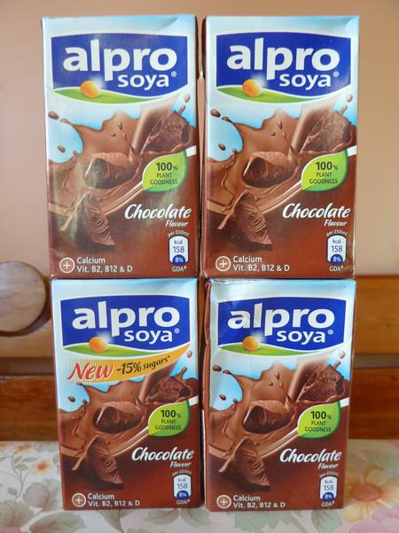 I found chocolate soy milk!
