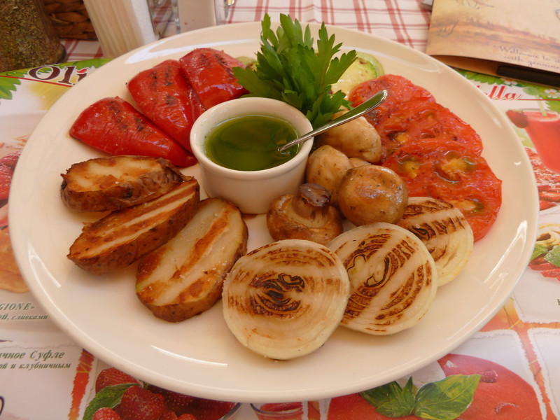 bruch: grilled vegetables plate