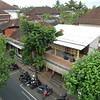 Ubud<br /> housetops, Jalan (road) Hanoman<br /> from Blackbeach Italian Restaurant