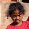 Little Girl at Rock Singing Game