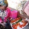 Selling tomatoes in Mbulu