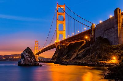 Golden Gate Bridge Magic Hour