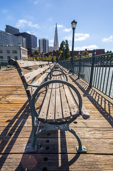 Benches on Pier 7