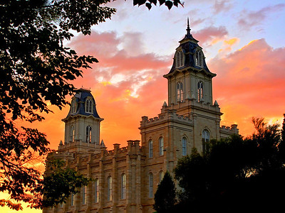 Sunset of Manti LDS Temple | Utah