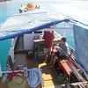 Komodo boat Jan & Paul living/eating area