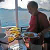 Komodo boat meal Paul Jan