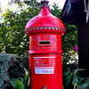 The Post Office box at the Fitzroy Gardens.