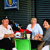 Photo taken at the outdoor terrace dining area of the Sydney Airport with Mike and Barbara.