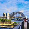 Sydney's Park hyatt Hotel, Dawes Point Park and the Sydney Harbor Bridge.