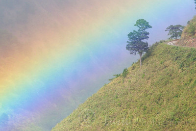 Rainbow near Bontoc, Cordillera central, North Luzon, Philipinnes