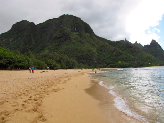 """There's a look at """"Tunnels Beach""""... what an amazing backdrop it provided for our snorkeling adventure!"""