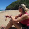 "There's Nancy enjoyed our ""5 Star setting"" that we enjoyed during our lunch today! :-) You can see the ""Live"" view here: <a href=""http://nancyandshawnpower.com/na-pali-coast-hike-kalalau-trail-hanakapi%E2%80%99ai-beach/"">http://nancyandshawnpower.com/na-pali-coast-hike-kalalau-trail-hanakapi%E2%80%99ai-beach/</a>"