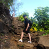 "Today we hiked along the famous ""Na Pali Coast"" in Kauai, Hawaii on the Kalalau Trail... it was fabulous... there's Shawn getting us started up the trail. :-) You can see our Video footage here: <a href=""http://nancyandshawnpower.com/na-pali-coast-hike-kalalau-trail-hanakapi%E2%80%99ai-beach/"">http://nancyandshawnpower.com/na-pali-coast-hike-kalalau-trail-hanakapi%E2%80%99ai-beach/</a>"