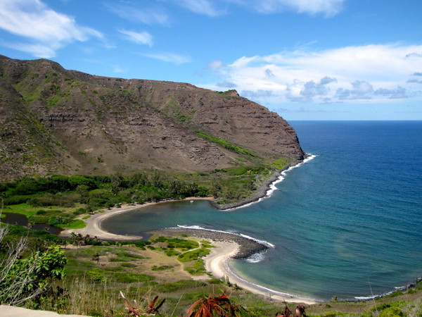 The cliffside views around Molokai's East Coast (actually around the whole island) are pretty stunning