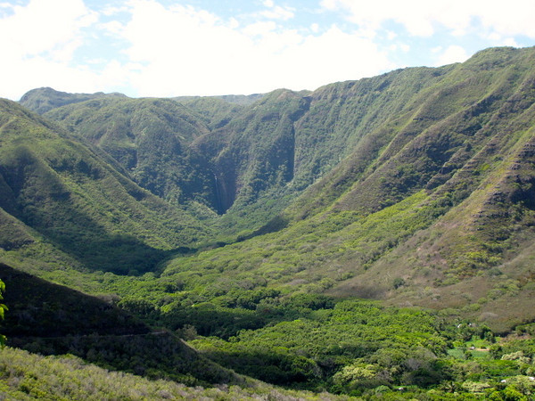 There's a look into the Halawa Valley... apparently they have some great hiking trails there that lead into some scenic waterfalls.