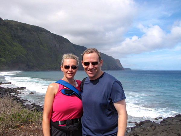 Now that's one happy couple enjoying their day and hike in Molokai, Hawaii!! :-)