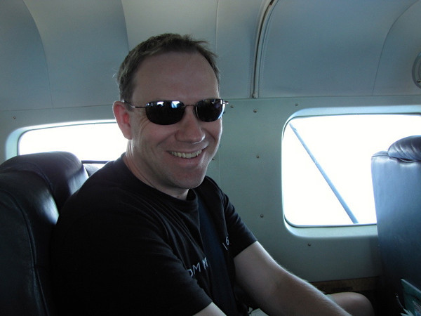 Shawn seems to like the small plane feel... it's like doing one of those private plane tours that you pay several hundred dollars per person for! :-)