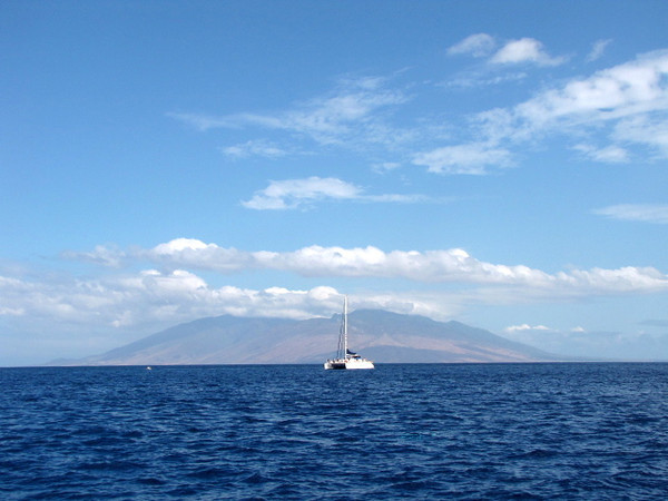 Everywhere you look when at Molokini there are awesome views all around... of Maui, Molokai & Lanai.