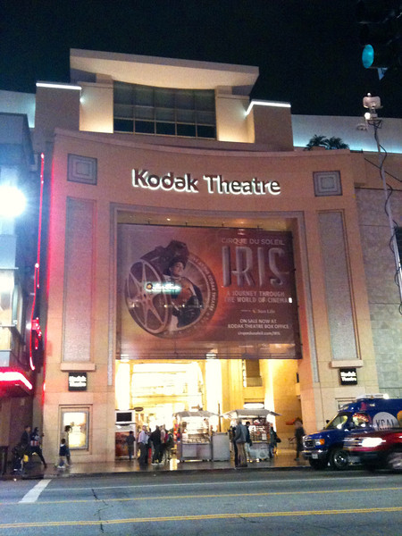 "To end the day we watched Cirque # 15 for us... ""Iris""... awesome!! By the way, it's performed at the famous ""Kodak Theatre"" where the Academy Awards takes place... cool! :-) Well, it's been a great time staying at the ""Peacock Suites"" in Anaheim, California and playing at Disneyland & Universal Studios... can't wait to come back!!"
