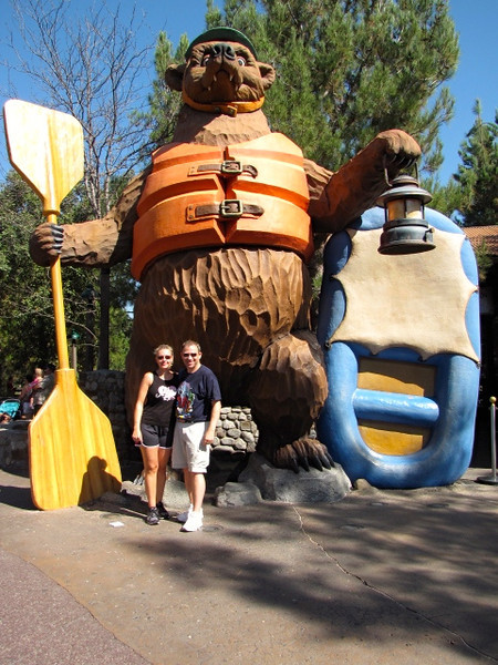 """Day 2 we enjoyed Disney's """"California Adventure""""! If you want to get wet make sure to do the """"Grizzly River Run""""!"""