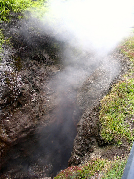When on the Big Island in Hawaii make sure to visit Hawaii Volcanoes National Park... as you drive around Crater Rim Drive at the park you can get out and see these volcanic flumes coming right out of the ground... amazing!