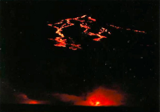 Seeing lava flowing into the sea at night from our ship during our 1st ever visit to the park was pretty awesome... and lucky as it doesn't always happen. And FYI, this was at maximum zoom, you can't get too close! :-)