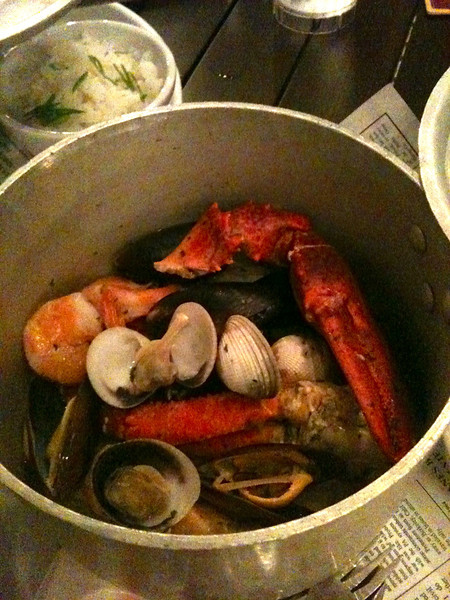 """During one of our nights on the """"Big Island"""" we both had a bucket of steamed seafood while dining Oceanside in Kona, Hawaii... heaven!! :-)"""