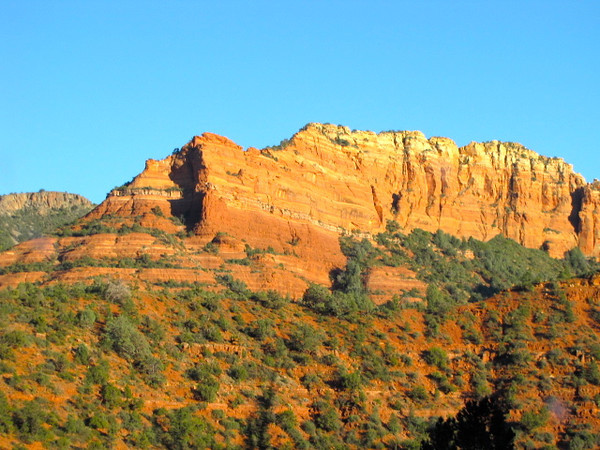 "The drive from Vegas to Sedona was really pretty the whole way with the mountainess terrains! As we got close to Sedona it got really nice though with scenes like this... you can see why it's called ""Red Rock Country"" there... it's all around! :-)"