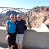 "There we are enjoying checking out the Hoover Dam... behind us is the new ""Bybass"" bridge that opened last year... unreal how they built something that big across! Check it out next time you're in the area!"