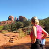 "Today we went and hiked ""Cathedral Rock"" in Sedona, Arizona... there's Nancy eying the goal before we start our journey! :-) Check out our full blog post and video about it at: <a href=""http://nancyandshawnpower.com/cathedral-rock-hike-sedona-arizona/"">http://nancyandshawnpower.com/cathedral-rock-hike-sedona-arizona/</a>"