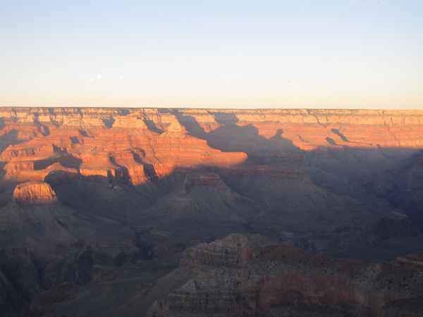 We visited the Canyon just before and during sunset... and as you can imagine from this pic, seeing the changing colors on the Canyon walls as the sun went down was pretty awesome!