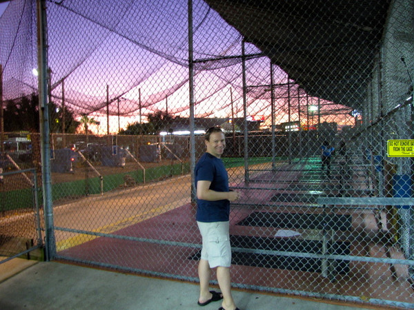 "Shawn also had fun taking a few ""swings"" in the batting cage as he hasn't played ball for quite a few years."