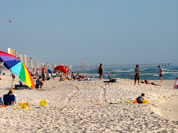"""The beaches at Panama City Beach in Florida's """"Gulf Coast"""" go on for miles and miles..."""