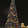 """Earlier in this album we showed you the huge trees like this at Hollywood Studios, Epcot & Animal Kingdom... doesn't the """"lit up"""" version look much better though... very pretty! :-)"""