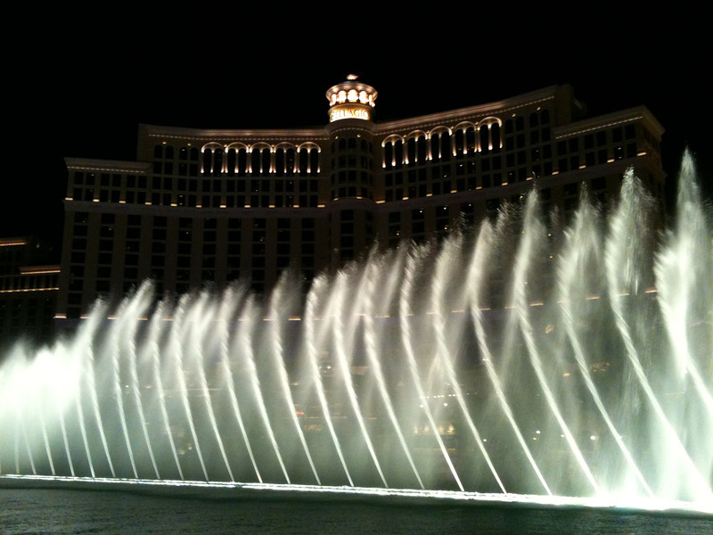 "Like every other time we've been in Vegas we dropped by the Bellagio to see their famous ""fountains"" water-show... awesome as always!! :-)"