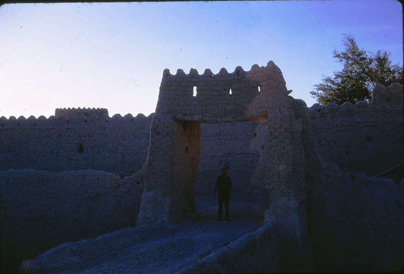 Mud Brick Fort from the 1500's<br /> Mountains of Fujairah-1966