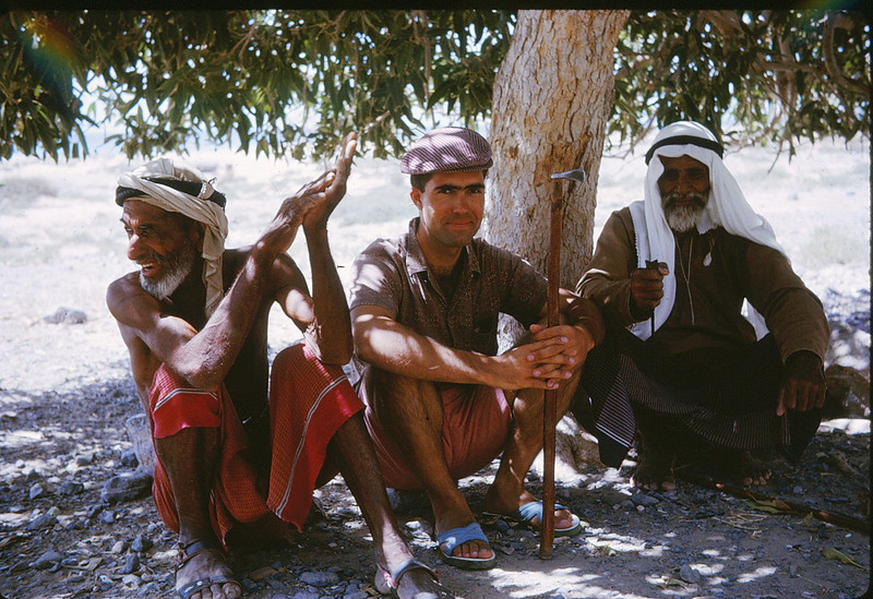 Photographer with Mountain Tribesmen<br /> Ash Sha'M, United Arab Emirates - 1966