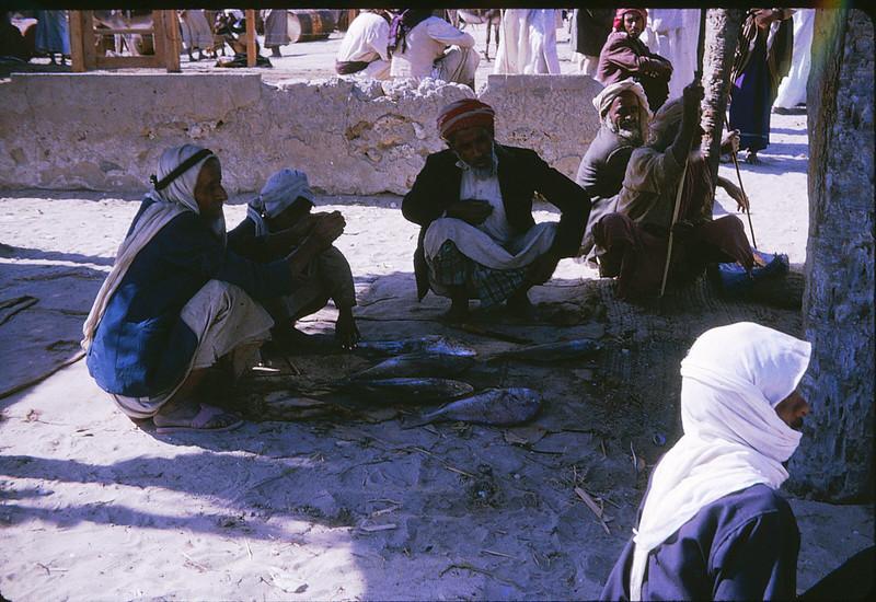 Fish Market in Dibba, Al-Fujairah, Trucial States - 1966