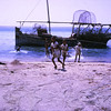 Arab Dhow of the type used for centuries.<br /> Dubai-1966