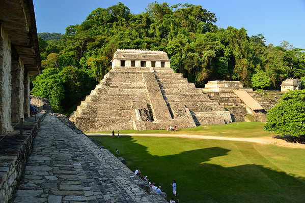 Mexico, Palenque, Palace, Temple of the Inscriptions, Temple XIII, Temple XII
