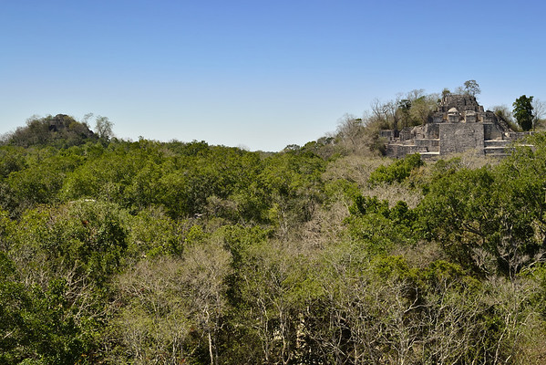 Mexico, Calakmul, Pyramid I and II