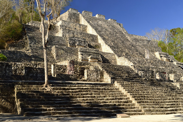 Mexico, Calakmul, Temple II (One ot the tallest pyramids in the Central America)