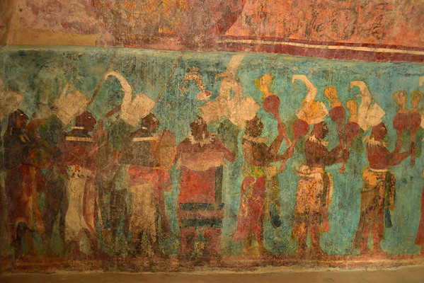 Mexico, Bonampak, Fresco