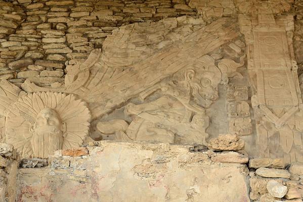 Mexico, Tonina, Mural of the Four Eras