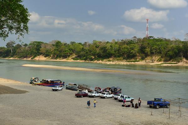 Mexico, Chiapas, Rio Usumacinta, Guatemala Border
