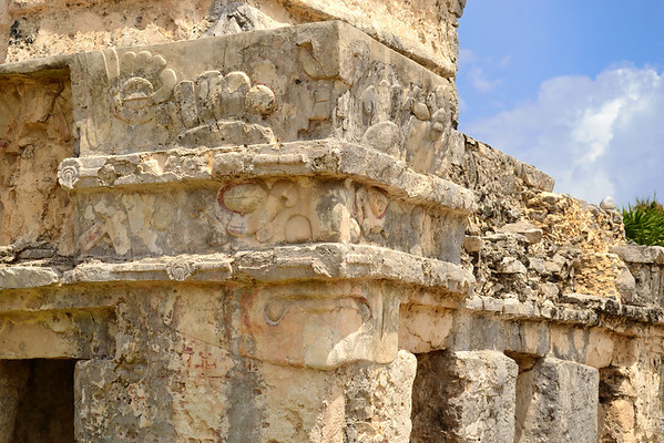 Mexico, Tulum, Temple of the Descending God
